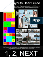 Page Layouts Vol 2 Photoshop Actions