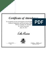 uni certificates