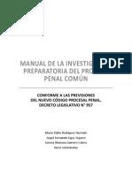 Manual de la Investigación Preparatoria del Proceso Penal Común