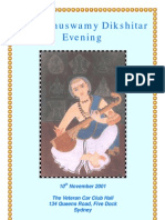 2001 Muthuswamy Dikshitar Evening
