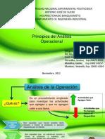 Principios Del Analisis Operacional. Ing Del Trabajo
