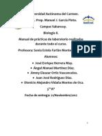 Manual de prácticas de laboratorio-Biología II-3°A