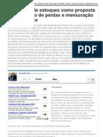 A auditoria de estoques como proposta para redução de perdas e mensuração de resultados