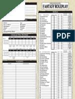 WFRP Character Sheets