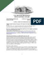 Capital Assistance Program (CAP) FAQ