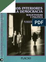 Lechner N Los Patios Interiores de La Democracia .Subjetividad y Politica