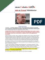 Do RCs KnOw Cardinal Sex Deviant