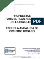 Propuestas para el Plan Andaluz de la Bicicleta