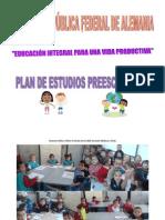 Plan de Estudios de Nuestros Niños y Niñas  de Grado Cero RFA