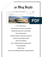 A 5 Star Blog Reply