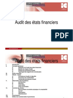 Audit Des Etats Financiers