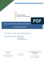 Hip Arthroscopy Protocol
