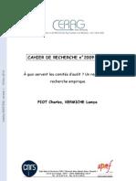A Quoi Servent Les Comites d Audit Un Regard Sur La Recherche Empirique