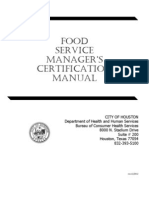 City of Houston Food Manager's Manual