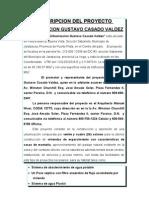 Descripcion Del Proyecto Urbanizacion Gustavo Casado Valdez
