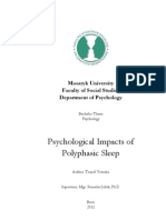 Psychological Impacts of Polyphasic Sleep (Bachelor work)