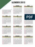 Kalender 2013 ABSOLUTEGRAFIKA 03191700093