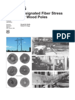 fiber stress for wood poles