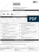 Transaction Dispute Form July2012