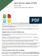 10 dicas para comprar imóveis e alugar em 2013