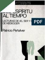 Patricio Penalver-Del Espiritu Al Tiempo Lecturas de El Ser y El Tiempo de Heidegger