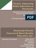 Public Forum Improving Public Education in Dunwoody