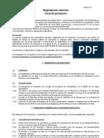 Reglamento Interno Primaria 2012
