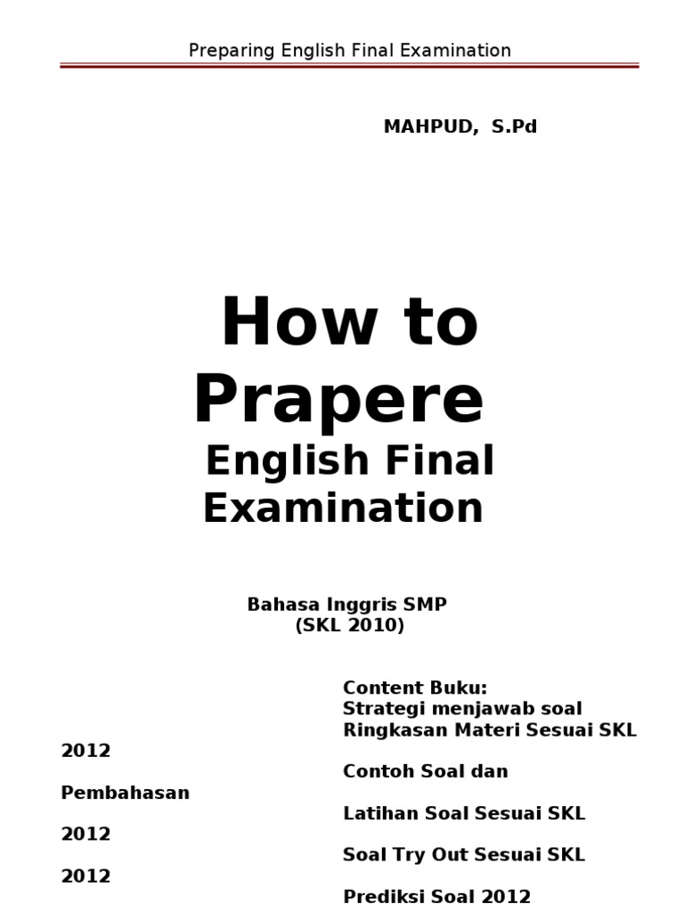 Preparing English Examination | Television | Bears on