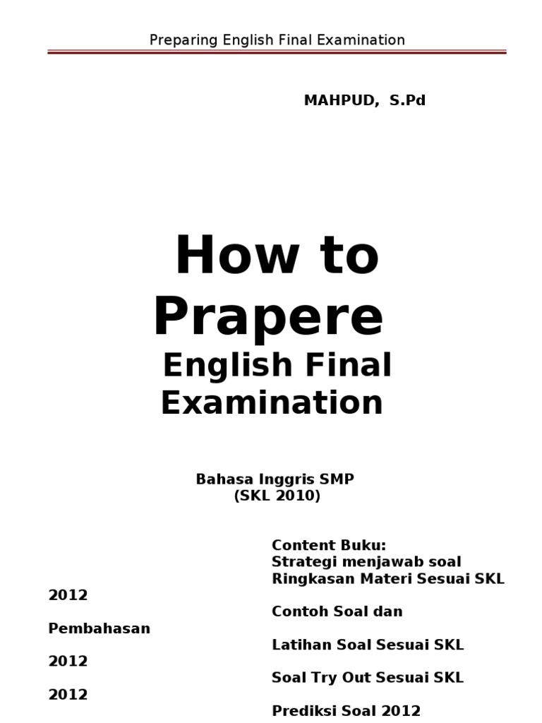 Preparing English Examination Televisi