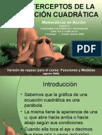 Interceptos de La FunciÓn CuadrÁtica Version Blog para Grado 11
