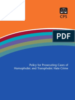 CPS Policy for Prosecuting Cases of Homophobic and Transphobic Hate Crime