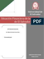 Situacion Financiera de La Banca en El Salvador