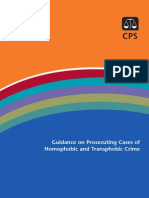 CPS Guidance on Prosecuting Cases of Homophobic and Transphobic Crime