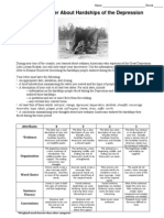 Letter About the Depression Directions and Rubric