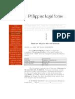 Deed of Sale Sample