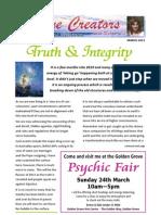 Divine Creators Newsletter - March 2013