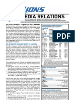2011 Detroit Lions Media Guide (240p)