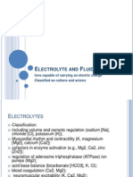 Electrolyte and Fluid Balance