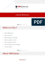 VBAClasses Course Brochure