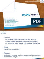 Brand Audit in Banking Industry