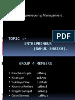 Rahul Shaikh (Entrepreneur)