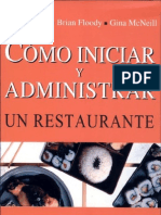 Como Iniciar y Administrar Un Restaurante