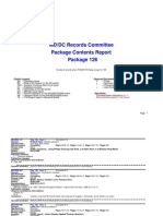 Records Committee Package Contents Report Package