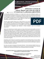 Rechacemos la elección de Álvaro Ramírez como rector de la UIS