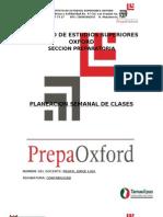 Formato Planeacion Semanal de Clases Prepa
