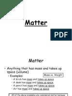 Matter - Grade 7