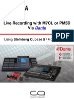 Live Recording With m7cl or Pm5d via Dante Steinberg