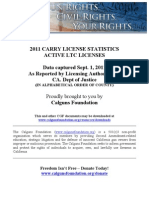 The Calguns Foundation report on California Carry License Issuance, statewide and by county - 2011