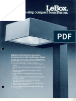 Sterner Lighting LeBox Series Brochure 1983