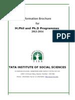 Information Brochure MPhil and PhD Final